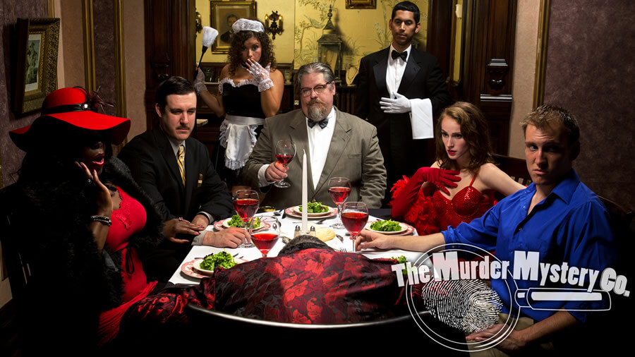 What is a murder mystery dinner?