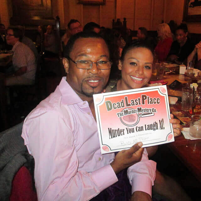 'Sugar' Shane Mosley attending a private murder mystery dinner hosted by The Murder Mystery Company.